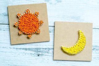 太陽と月の編み物